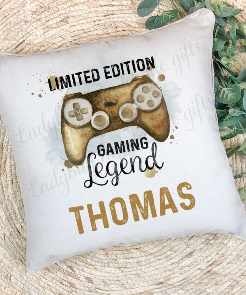 Personalised Gaming legend cushion