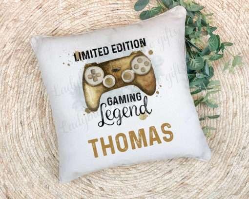 Personalised Gaming legend cushion