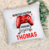 Red controller on a cushion