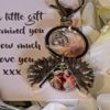 Sunflower keyring personalised with photo of your choice in a little bag