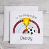 Football father's day card in a rainbow